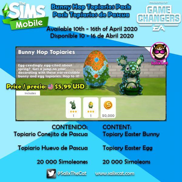 10 de Abril 2020  – Bunny Hop Topiaries Pack – Topiarios de Pascua