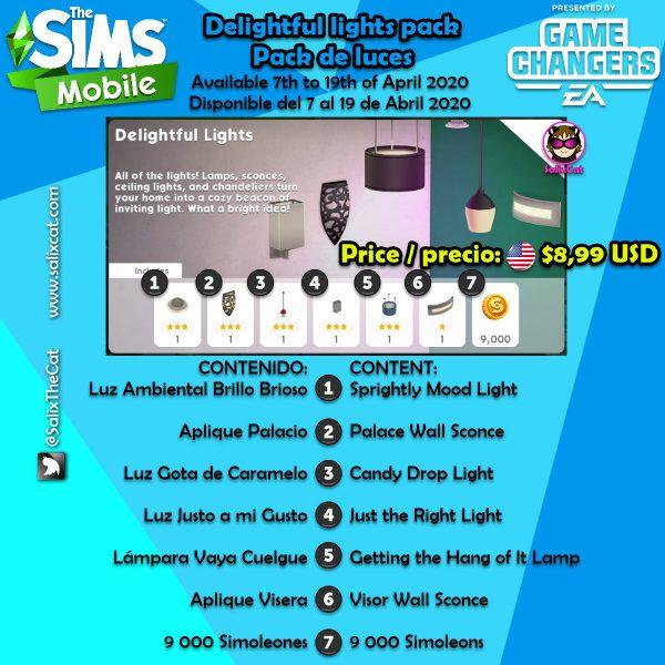 7 de Abril 2020 – Delightful Lights pack – Pack de Luces