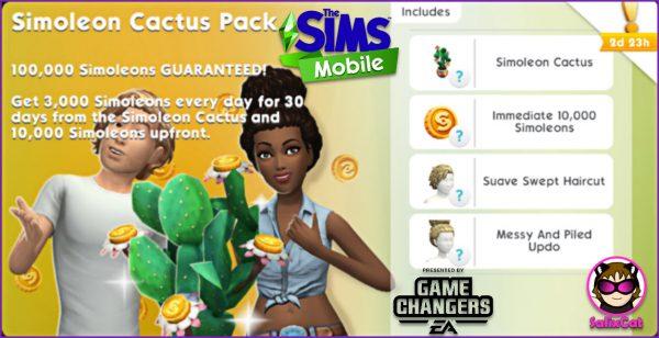 3 de agosto 2020 – Simoleon Cactus Pack – Cactus de Simoleones
