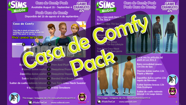 25 de agosto 2020 – Casa de Comfy Pack