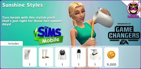 3 de agosto 2020 – Sunshine styles pack – Pack de estilo veraniego