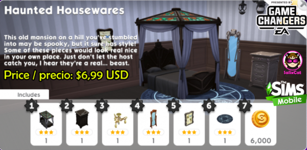 3rd of November 2020 – Haunted housewares pack – Artículos encantados