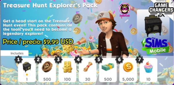 26th of October 2020 – Treasure Hunt Explorer's Pack #2 – Pack de explorador de la Búsqueda del Tesoro